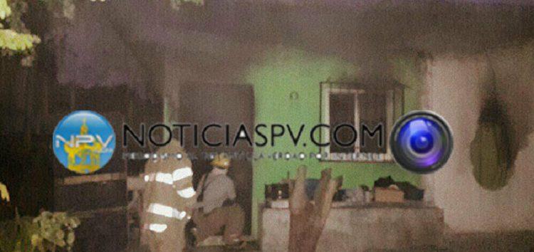 Se incendió casa en Bucerias