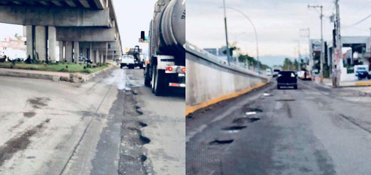 Piden arreglar laterales de avenida de ingreso en Mezcales