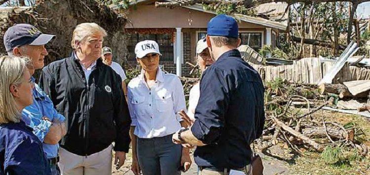 Trump, impactado por la destrucción del huracán Michael