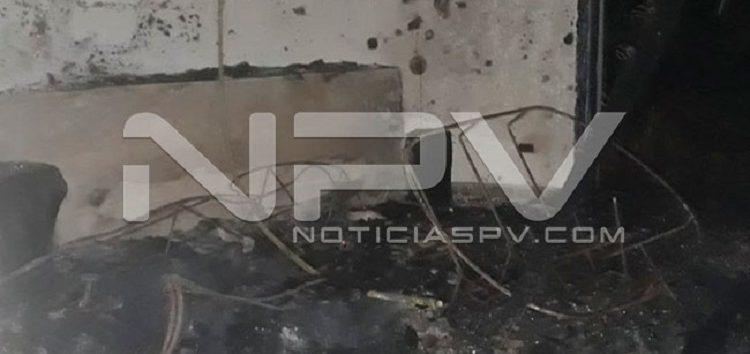 Rayo quemó Villa Caleta en poblado de San Pancho