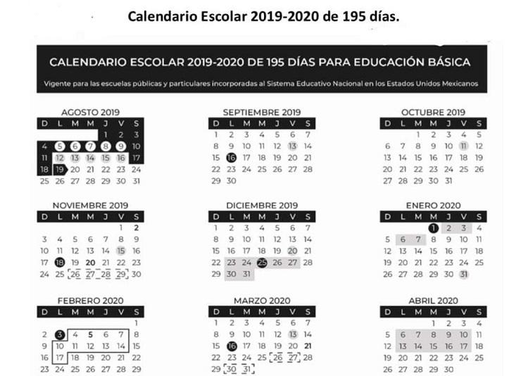 Calendario 2019 2020.Listo El Calendario 2019 2020 Pero Contempla Cambios Noticiaspv